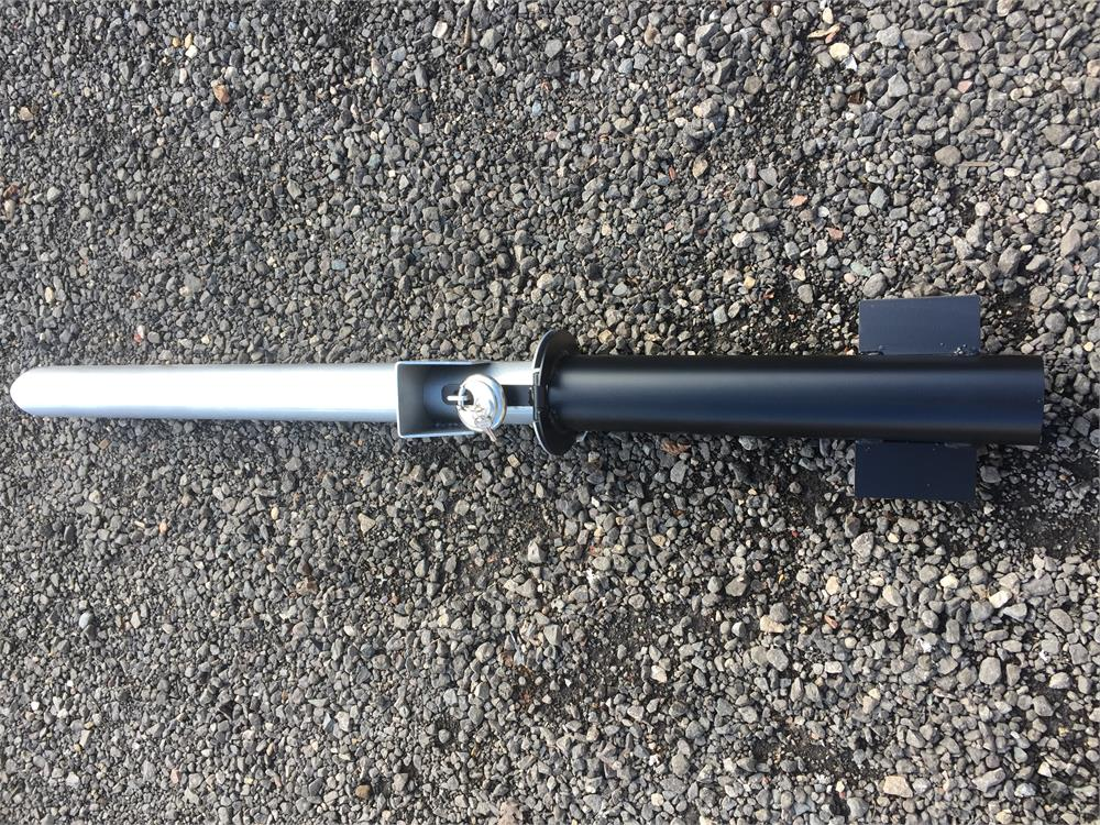 DRIVEWAY REMOVABLE SECURITY POST 76MM PIPE